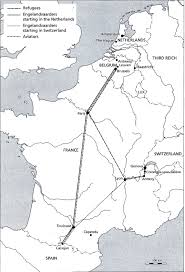 Maps France by Maps Of Major Escape Routes Through France Wwii Netherlands