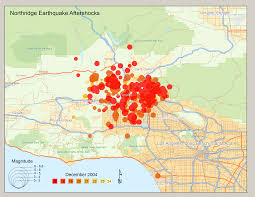 Earthquake Map Los Angeles by Northridge Earthquake U2013 Smith Gis
