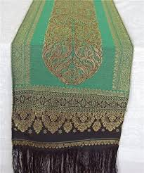 emerald green table runners traditional thai silk cotton table runner in emerald green