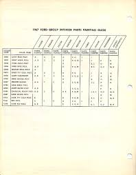 Ford Interior Paint 1967 Mustang Interior Paint Chip Chart With Paint Codes Maine