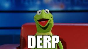 Know Your Meme Derp - derpmit the frog derp know your meme