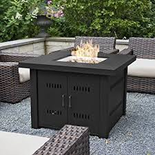 gas fire pit table kit amazon com belleze 40 000btu outdoor patio propane gas fire pit
