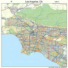 atlas road map large road map of los angeles california ca