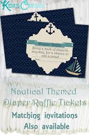baby shower raffle nautical baby shower raffle ticket kindred creations