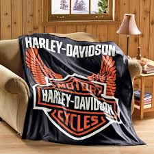 Harley Davidson Home Decor by Amazon Com Collections Etc Harley Davidson Fleece Throw Blanket
