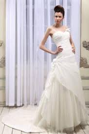 a line strapless sweetheart long train petals trimmed wedding gown
