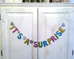 it u0027s a surprise banner baby shower decoration gender