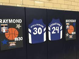 johnson crusaders boys varsity basketball recognizes seniors in