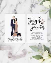 unique wedding invitations gold wedding invitations with portrait for unique