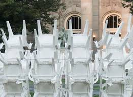 pavilion by 500 white plastic chairs by coda