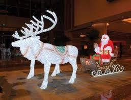 Outdoor Christmas Decorations Sleigh by Outdoor Christmas Decoration Lights Led 3d Reindeer With Sleigh