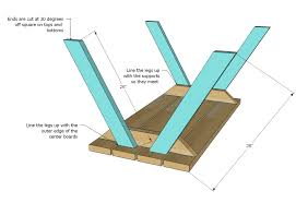 Free Diy Picnic Table Plans by Ana White Build A Bigger Kid U0027s Picnic Table Diy Projects