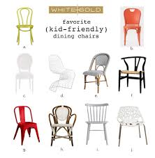 Childs Dining Chair White Gold Our Fav Kid Friendly Dining Chairs