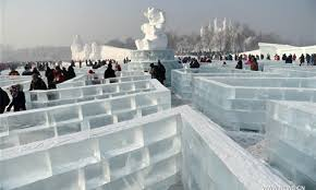 harbin snow and ice festival 2017 tourists have fun at harbin intl ice and snow festival global times