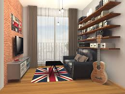brick wall apartment furniture cool apartment loft with british rug and guitar also