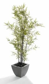 artificial 5ft 5 bamboo tree with green stems p064d
