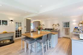 t shaped kitchen island kitchen refurbishment in wimbledon