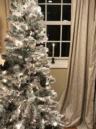 how many lights for a 6 foot tree white christmas create a 6 flocked christmas tree for under 40
