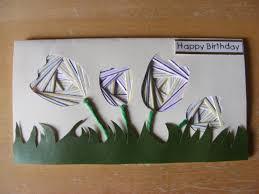 bav cards iris folding tulip birthday card