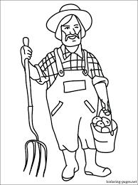 Farm Coloring Pages Vonsurroquen Me Farm Color Page