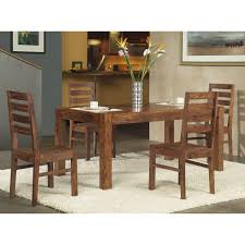 modus genus 4 piece dining table set with bench hayneedle