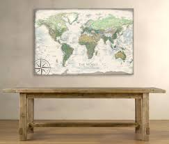 Canvas Map Of The World by Voyager 1 World Map Canvas Wrap Map Geojango Maps