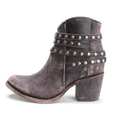 womens boots corral womens studded distressed ankle boots oxford