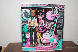 draculaura and clawd high draculaura and clawd wolf doll gift set review