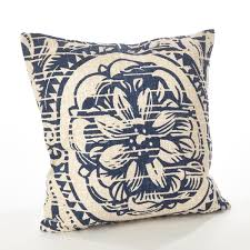 home design down pillow montpellier collection floral distressed design down filled cotton