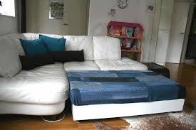 Denim Sofa Slipcovers by Diy Sofa Family Bed With Upcycled Denim Cover Luz Patterns