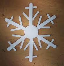 jumbo craft stick snowflake scale decoration and craft sticks