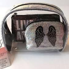 victoria 39 s secret nwt fashion show makeup cosmetic bag set trio