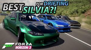 drift cars 240sx forza horizon 3 best drift car which silvia drifts best nissan