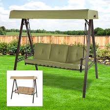 replacement canopy for lowes 3 person swing beige garden winds