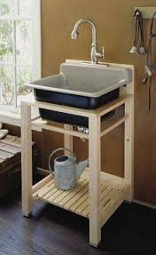 Laundry Utility Sink With Cabinet by Upcycled Pallet Utility Sink U2026 Pinteres U2026