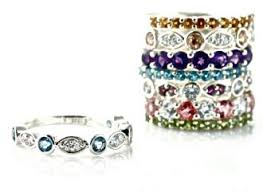 stackable birthstone rings express your with a stackable birthstone ring oh my rings