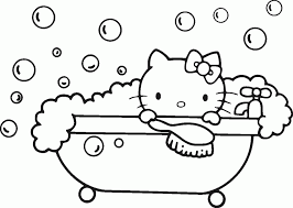 kitty coloring pages images pictures mermaid cartoons