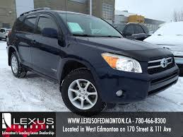 lexus edmonton used used 2007 toyota rav4 4wd 4dr v6 limited four wheel drive 4 door