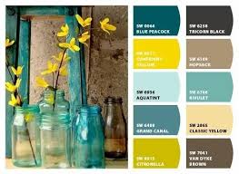 What Color Sofa Goes With Yellow Walls Yellow Brown Teal Color Palette Google Search Paint Colors
