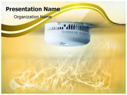 smoke detector powerpoint template is one of the best powerpoint