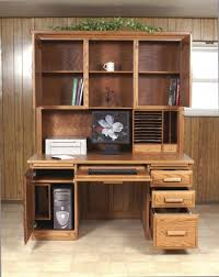 Computer Desk With Hutch Amish Flat Top Computer Desk With Hutch Intended For Popular