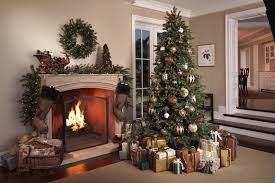 decorating interesting balsam hill christmas trees with fireplace