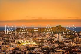 hawaiian airlines on aloha and happy thanksgiving