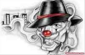 gangster clown tattoo design tattoo viewer com