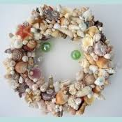 decor wreath seashell wreath starfish wreath nautical