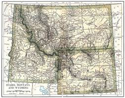 Map Montana United States Digital Map Library About