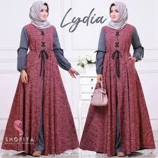 gamis modern jual baju muslim wanita gamis modern gamis lydia ori shofiya