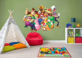 super mario group wall decal shop fathead for mario decor super mario group fathead wall decal