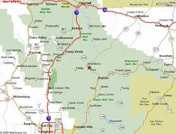 map of az central arizona map and directions how to reach pine strawberry