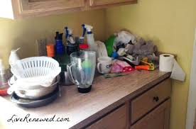 Kitchen Countertop Shelf How To Completely Clear Off Your Kitchen Counters